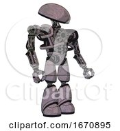 Cyborg Containing Dome Head And Heavy Upper Chest And No Chest Plating And Light Leg Exoshielding Dark Sketch Facing Left View