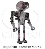 Cyborg Containing Cable Connector Head And Heavy Upper Chest And No Chest Plating And Ultralight Foot Exosuit Dark Dirty Scrawl Sketch Facing Left View