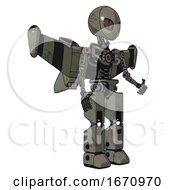 Cyborg Containing Grey Alien Style Head And Metal Grate Eyes And Light Chest Exoshielding And Stellar Jet Wing Rocket Pack And No Chest Plating And Prototype Exoplate Legs Concrete Grey Metal