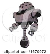 Bot Containing Black Sphere Cam Design And Heavy Upper Chest And Unicycle Wheel Dark Sketch Facing Right View