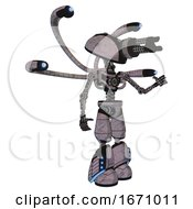 Robot Containing Gatling Gun Face Design And Light Chest Exoshielding And Blue Eye Cam Cable Tentacles And No Chest Plating And Light Leg Exoshielding And Megneto Hovers Foot Mod Sketch Fast Lines