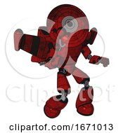 Cyborg Containing Dual Retro Camera Head And Satellite Dish Head And Light Chest Exoshielding And Prototype Exoplate Chest And Stellar Jet Wing Rocket Pack And Light Leg Exoshielding