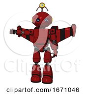 Cyborg Containing Oval Wide Head And Blue Led Eyes And Minibot Ornament And Light Chest Exoshielding And Prototype Exoplate Chest And Stellar Jet Wing Rocket Pack And Light Leg Exoshielding Dark Red