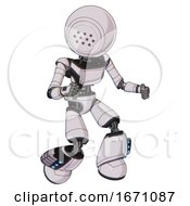Automaton Containing Dots Array Face And Light Chest Exoshielding And Ultralight Chest Exosuit And Light Leg Exoshielding And Megneto Hovers Foot Mod White Halftone Toon Fight Or Defense Pose