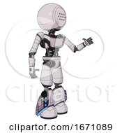 Automaton Containing Dots Array Face And Light Chest Exoshielding And Ultralight Chest Exosuit And Light Leg Exoshielding And Megneto Hovers Foot Mod White Halftone Toon Interacting
