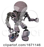 Droid Containing Dome Head And Heavy Upper Chest And No Chest Plating And Light Leg Exoshielding And Megneto Hovers Foot Mod Dark Sketch Fight Or Defense Pose