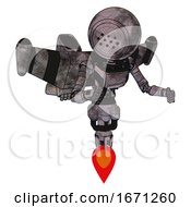 Mech Containing Dots Array Face And Light Chest Exoshielding And Ultralight Chest Exosuit And Stellar Jet Wing Rocket Pack And Jet Propulsion Sketch Pad Cloudy Smudges Fight Or Defense Pose