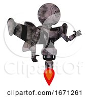 Mech Containing Dots Array Face And Light Chest Exoshielding And Ultralight Chest Exosuit And Stellar Jet Wing Rocket Pack And Jet Propulsion Sketch Pad Cloudy Smudges Interacting