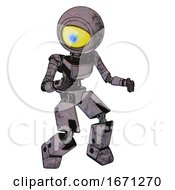 Droid Containing Giant Eyeball Head Design And Light Chest Exoshielding And Ultralight Chest Exosuit And Prototype Exoplate Legs Dark Dirty Scrawl Sketch Fight Or Defense Pose
