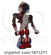 Bot Containing Digital Display Head And Stunned Expression And Led And Protection Bars And Heavy Upper Chest And No Chest Plating And Light Leg Exoshielding And Megneto Hovers Foot Mod