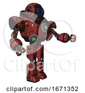 Mech Containing Digital Display Head And Blank Faced Expression And Heavy Upper Chest And Chest Green Energy Cores And Prototype Exoplate Legs Grunge Matted Orange Interacting
