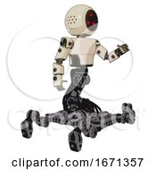 Cyborg Containing Three Led Eyes Round Head And Light Chest Exoshielding And Prototype Exoplate Chest And Insect Walker Legs Off White Toon Interacting