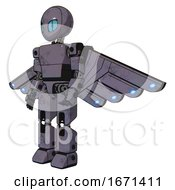 Android Containing Grey Alien Style Head And Blue Grate Eyes And Light Chest Exoshielding And Prototype Exoplate Chest And Cherub Wings Design And Prototype Exoplate Legs Light Lavender Metal
