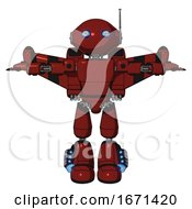 Droid Containing Oval Wide Head And Blue Eyes And Retro Antenna With Light And Light Chest Exoshielding And Prototype Exoplate Chest And Stellar Jet Wing Rocket Pack