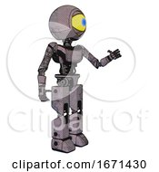Droid Containing Giant Eyeball Head Design And Light Chest Exoshielding And Ultralight Chest Exosuit And Prototype Exoplate Legs Dark Dirty Scrawl Sketch Interacting
