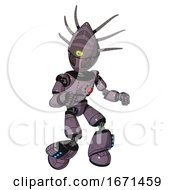 Android Containing Grey Alien Style Head And Metal Grate Eyes And Eyeball Creature Crown And Light Chest Exoshielding And Red Energy Core And Light Leg Exoshielding And Megneto Hovers Foot Mod