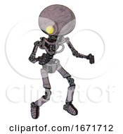 Mech Containing Yellow Cyclops Dome Head And Light Chest Exoshielding And No Chest Plating And Ultralight Foot Exosuit Sketch Fast Lines Fight Or Defense Pose