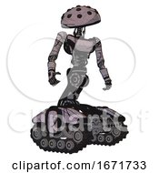 Robot Containing Black Sphere Cam Design And Light Chest Exoshielding And Ultralight Chest Exosuit And Tank Tracks Dark Sketch Doodle Hero Pose