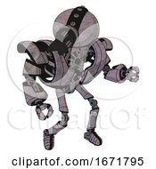 Automaton Containing Gatling Gun Face Design And Heavy Upper Chest And Heavy Mech Chest And Ultralight Foot Exosuit Sketch Fast Lines Fight Or Defense Pose