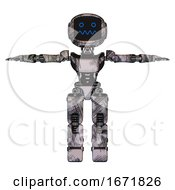 Cyborg Containing Digital Display Head And Stunned Expression And Light Chest Exoshielding And Ultralight Chest Exosuit And Prototype Exoplate Legs Scribble Sketch T Pose