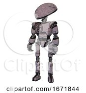 Robot Containing Dome Head And Light Chest Exoshielding And Chest Valve Crank And Ultralight Foot Exosuit Dark Sketch Doodle Standing Looking Right Restful Pose