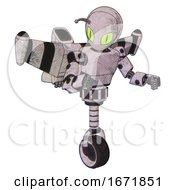 Automaton Containing Grey Alien Style Head And Cats Eyes And Bug Antennas And Light Chest Exoshielding And Prototype Exoplate Chest And Stellar Jet Wing Rocket Pack And Unicycle Wheel Sketch Pad