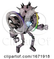 Automaton Containing Thorny Domehead Design And Heavy Upper Chest And Heavy Mech Chest And Spectrum Fusion Core Chest And Ultralight Foot Exosuit Dark Sketch Doodle Fight Or Defense Pose