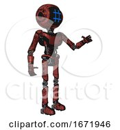Droid Containing Digital Display Head And Hashtag Face And Light Chest Exoshielding And Ultralight Chest Exosuit And Ultralight Foot Exosuit Grunge Matted Orange Interacting