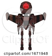 Droid Containing Round Head And Red Laser Crystal Array And Light Chest Exoshielding And Ultralight Chest Exosuit And Stellar Jet Wing Rocket Pack And Ultralight Foot Exosuit Steampunk Copper