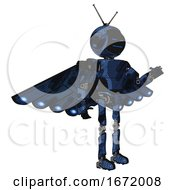 Bot Containing Digital Display Head And Sleeping Face And Retro Antennas And Light Chest Exoshielding And Prototype Exoplate Chest And Cherub Wings Design And Ultralight Foot Exosuit