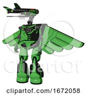 Droid Containing Dual Retro Camera Head And Communications Array Head And Light Chest Exoshielding And Pilots Wings Assembly And No Chest Plating And Light Leg Exoshielding And Stomper Foot Mod