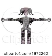 Bot Containing Flat Elongated Skull Head And Cables And Heavy Upper Chest And No Chest Plating And Prototype Exoplate Legs Smudgy Sketch T Pose