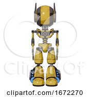 Cyborg Containing Round Head And Maru Eyes And Head Winglets And Light Chest Exoshielding And No Chest Plating And Light Leg Exoshielding And Megneto Hovers Foot Mod Construction Yellow Halftone
