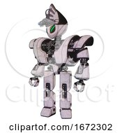Cyborg Containing Grey Alien Style Head And Green Demon Eyes And Alien Bug Creature Hat And Heavy Upper Chest And Heavy Mech Chest And Prototype Exoplate Legs Sketch Pad Light