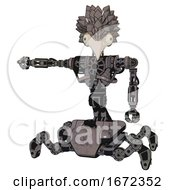 Droid Containing Bird Skull Head And Bone Skull Eye Holes And Bird Feather Design And Heavy Upper Chest And No Chest Plating And Insect Walker Legs Light Pink Beige