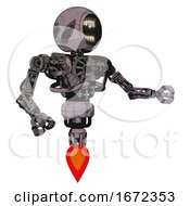 Automaton Containing Round Head Chomper Design And Heavy Upper Chest And No Chest Plating And Jet Propulsion Sketch Pad Wet Ink Smudge Interacting