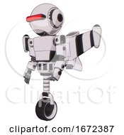 Android Containing Round Head And Horizontal Red Visor And Head Light Gadgets And Light Chest Exoshielding And Prototype Exoplate Chest And Stellar Jet Wing Rocket Pack And Unicycle Wheel