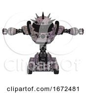 Automaton Containing Thorny Domehead Design And Heavy Upper Chest And Chest Compound Eyes And Six Wheeler Base Dark Sketch Random Doodle T Pose
