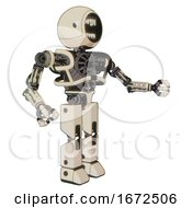 Automaton Containing Round Head Chomper Design And Heavy Upper Chest And No Chest Plating And Prototype Exoplate Legs Off White Toon Interacting
