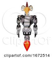 Bot Containing Bird Skull Head And Bone Skull Eye Holes And Chicken Design And Light Chest Exoshielding And Rubber Chain Sash And Jet Propulsion Scribble Sketch Front View