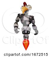 Bot Containing Bird Skull Head And Bone Skull Eye Holes And Chicken Design And Light Chest Exoshielding And Rubber Chain Sash And Jet Propulsion Scribble Sketch Hero Pose