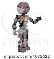 Droid Containing Dots Array Face And Light Chest Exoshielding And Yellow Star And Prototype Exoplate Legs Dark Ink Dots Sketch Interacting