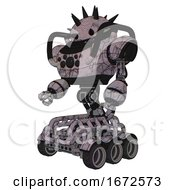 Automaton Containing Thorny Domehead Design And Heavy Upper Chest And Chest Compound Eyes And Six Wheeler Base Dark Sketch Random Doodle Facing Right View