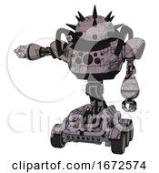 Automaton Containing Thorny Domehead Design And Heavy Upper Chest And Chest Compound Eyes And Six Wheeler Base Dark Sketch Random Doodle Arm Out Holding Invisible Object