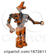 Android Containing Dual Retro Camera Head And Reversed Fin Head And Heavy Upper Chest And No Chest Plating And Prototype Exoplate Legs Secondary Orange Halftone Interacting