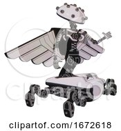 Bot Containing Plughead Dome Design And Light Chest Exoshielding And Pilots Wings Assembly And No Chest Plating And Insect Walker Legs White Halftone Toon Interacting