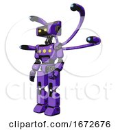 Automaton Containing Dual Retro Camera Head And Retro Tech Device Head And Light Chest Exoshielding And Yellow Chest Lights And Blue Eye Cam Cable Tentacles And Prototype Exoplate Legs