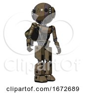 Bot Containing Round Head And Maru Eyes And Head Light Gadgets And Light Chest Exoshielding And Ultralight Chest Exosuit And Rocket Pack And Prototype Exoplate Legs Desert Tan Painted Hero Pose