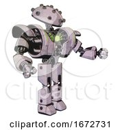 Cyborg Containing Plughead Dome Design And Heavy Upper Chest And Heavy Mech Chest And Green Energy Core And Prototype Exoplate Legs Sketch Pad Dots Pattern Interacting