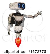 Cyborg Containing Dual Retro Camera Head And Retro 80s Head And Light Chest Exoshielding And Ultralight Chest Exosuit And Rocket Pack And Jet Propulsion Halftone Sketch